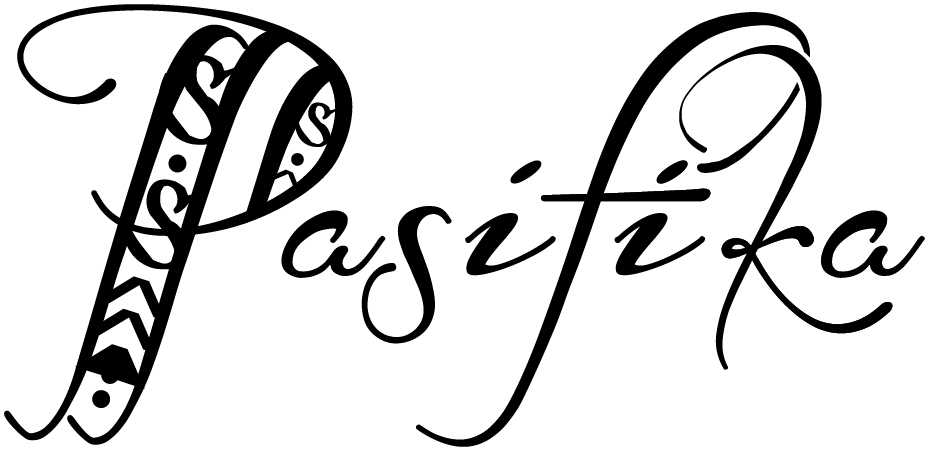"The word ""Pasifika"" in cursive font"