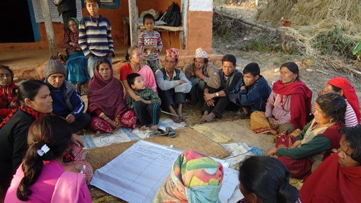 A group of activists in Nepal meet to plan their strategy