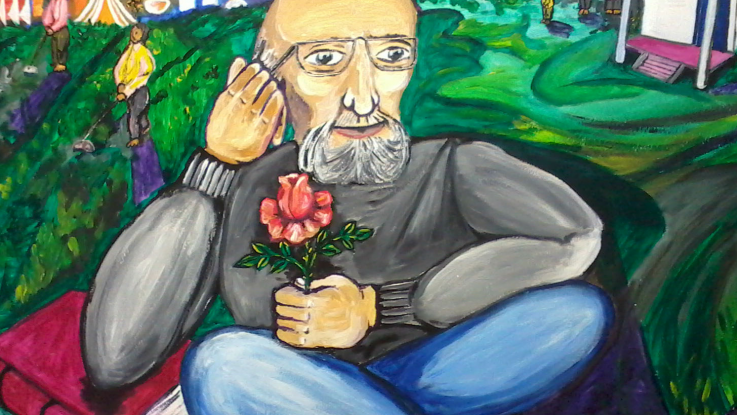 A painting of Paulo Friere